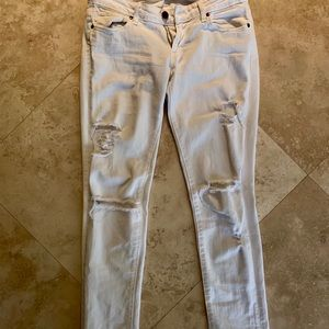 Paige skinny white jeans
